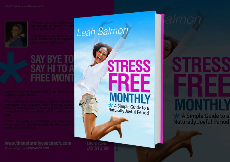 Stress Free Monthly - Book cover design