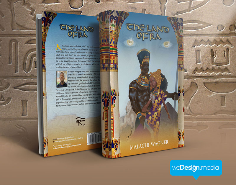 The Land Of Ra - Book cover design