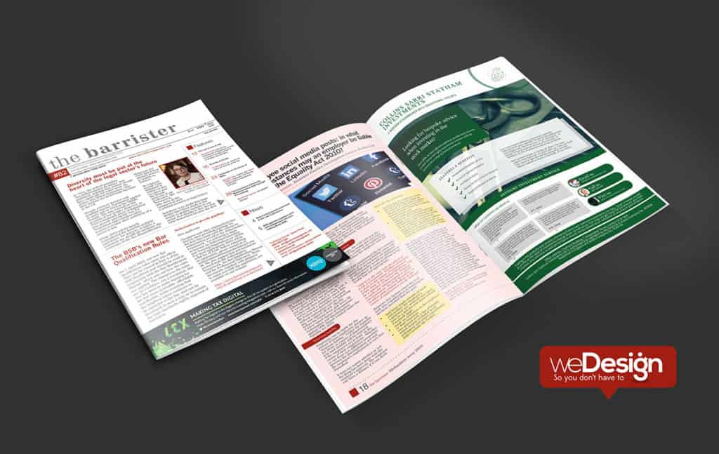 The Barrister industry magazine design